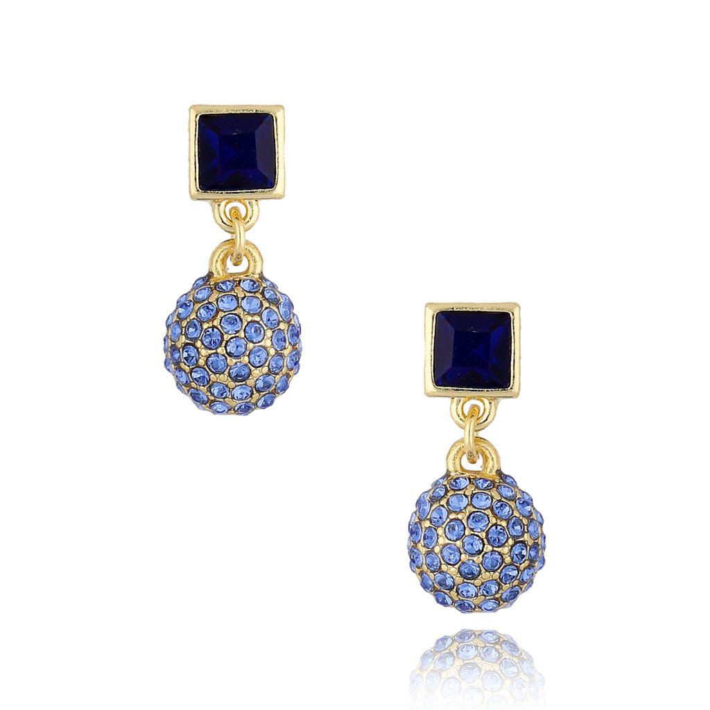 Kolczyki z kryształkami niebieskie KSS0850
