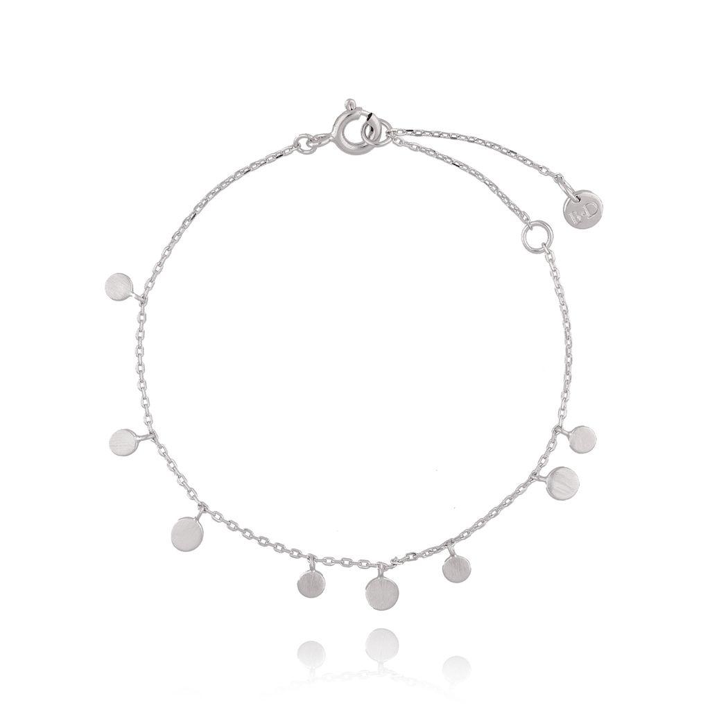 Bransoletka srebrna  z kółeczkami BFA0022