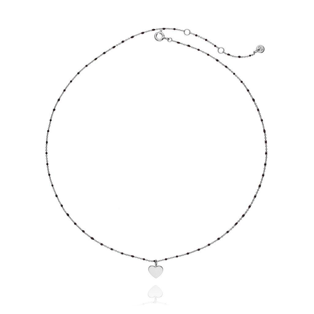 Naszyjnik srebrny z  sercem  NFA0015