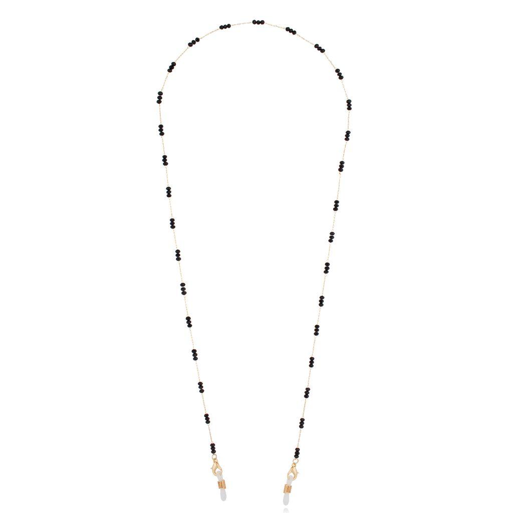 Łańcuszek do okularów złoty z kryształkami NOA0027