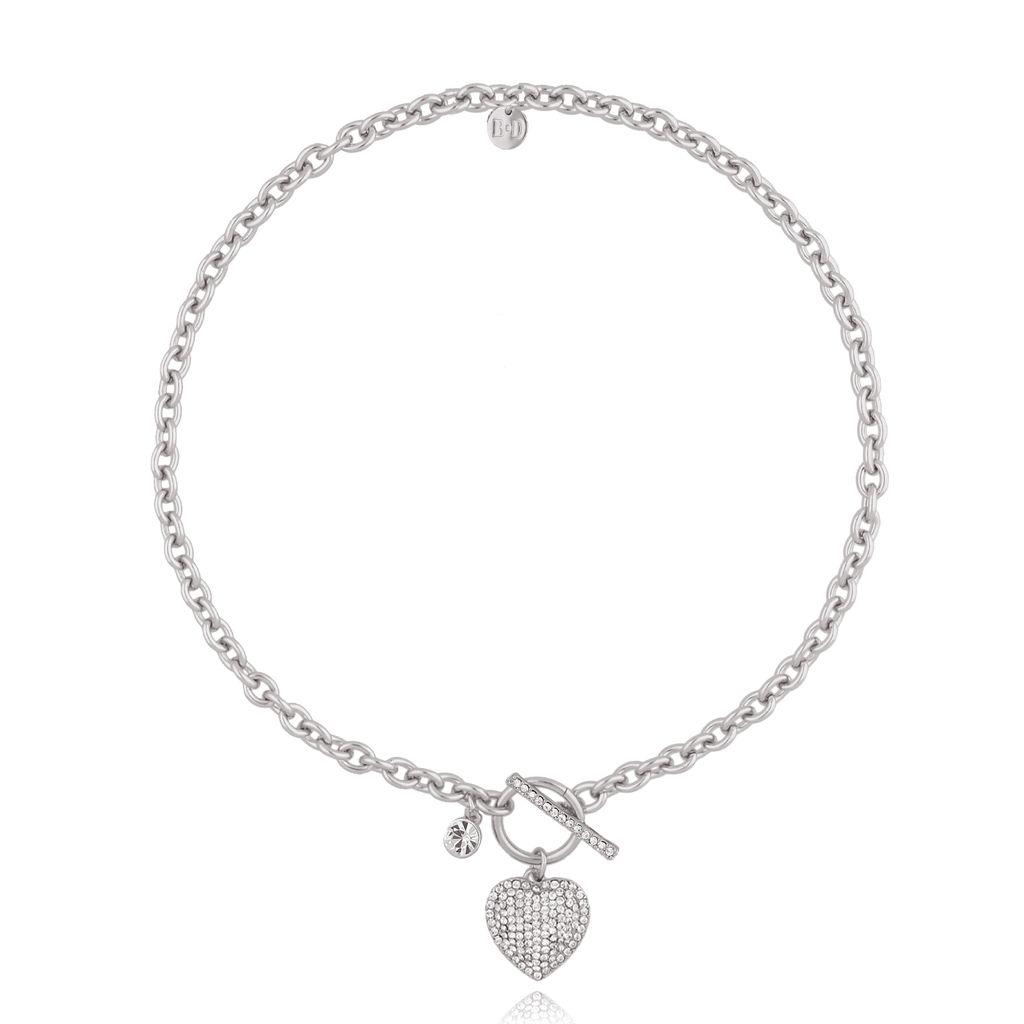 Naszyjnik srebrny z serduszkiem NRG0241