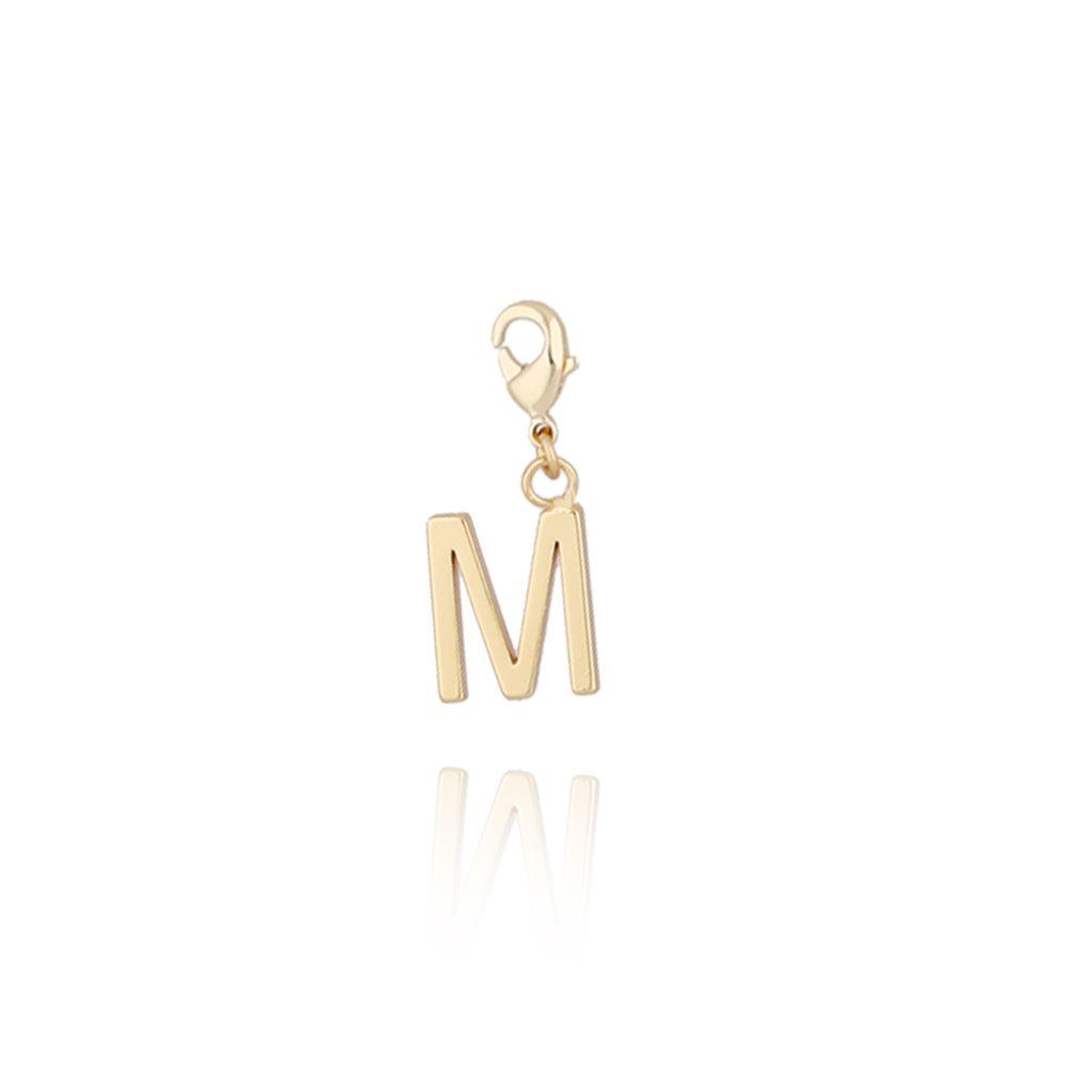 Charms złoty literką M NAT0178