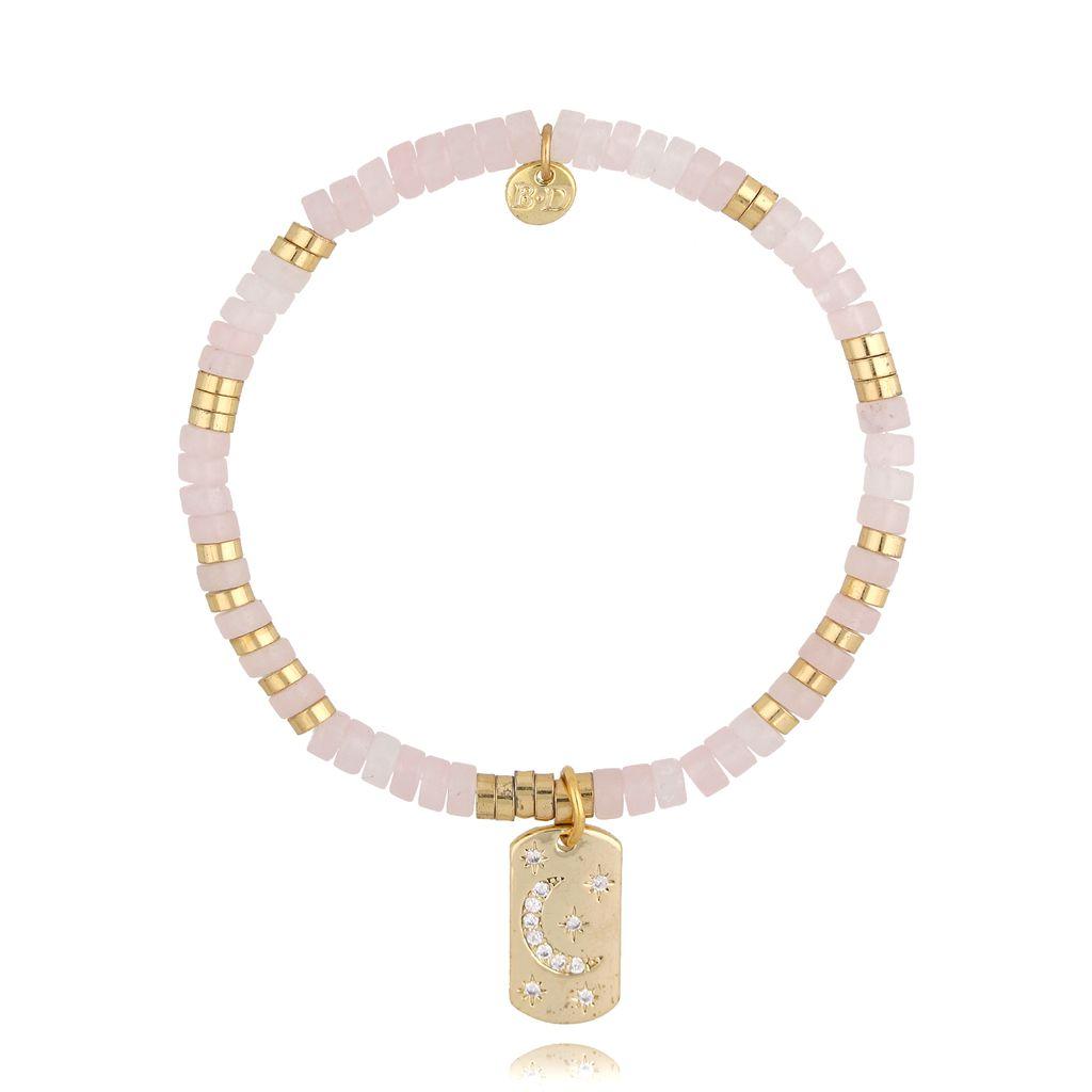 Bransoletka z kwarcem różowym BSC0815