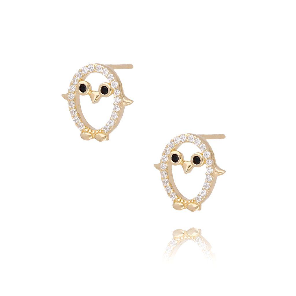 Kolczyki złote pingwinki  KGM0111