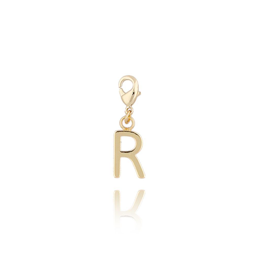 Charms złoty literką R NAT0182