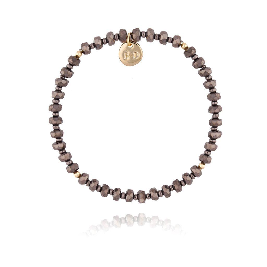 Bransoletka z brązowymi kryształkami BTW0247