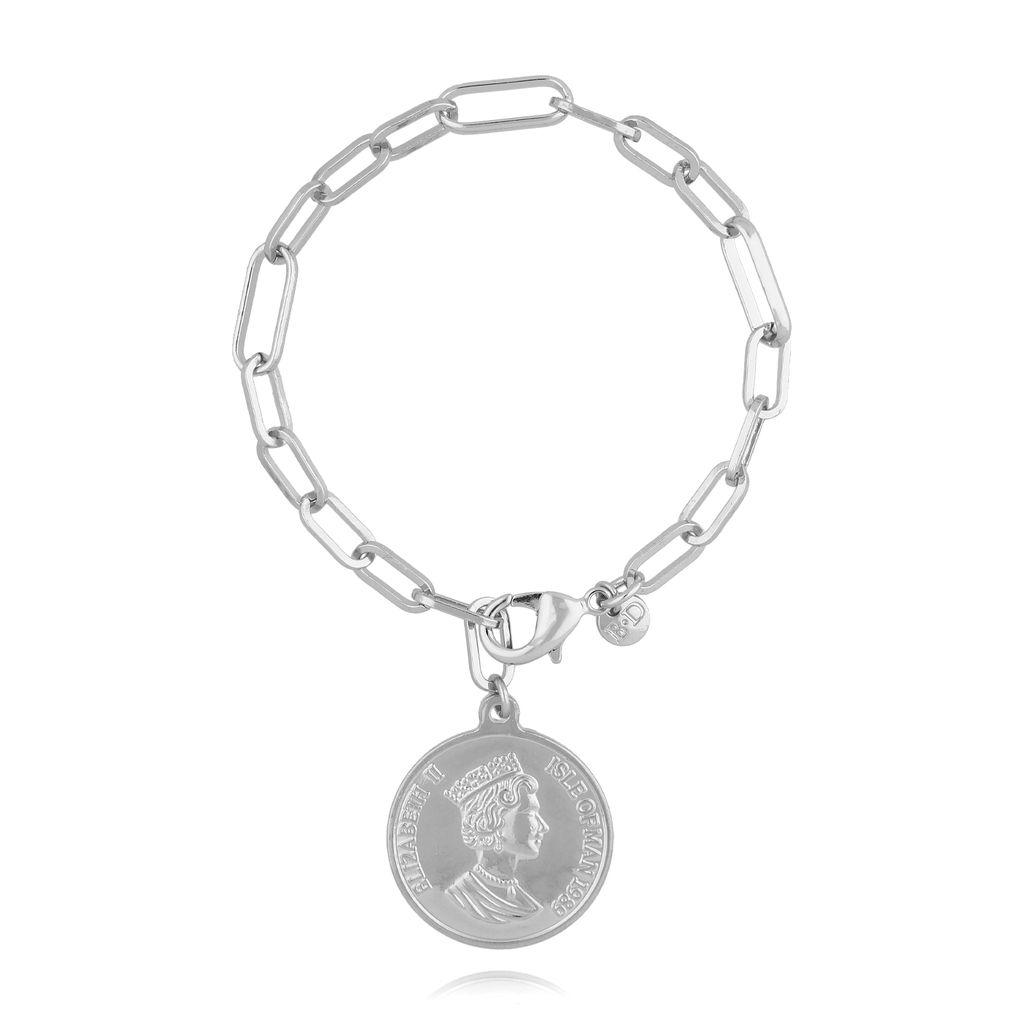 Bransoletka srebrna z monetą BRG0189