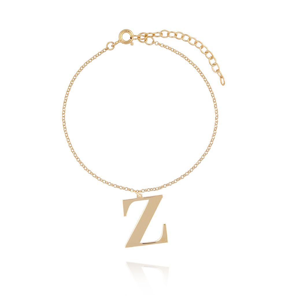 Bransoletka srebrna pozłacana z literką Z BAT0047