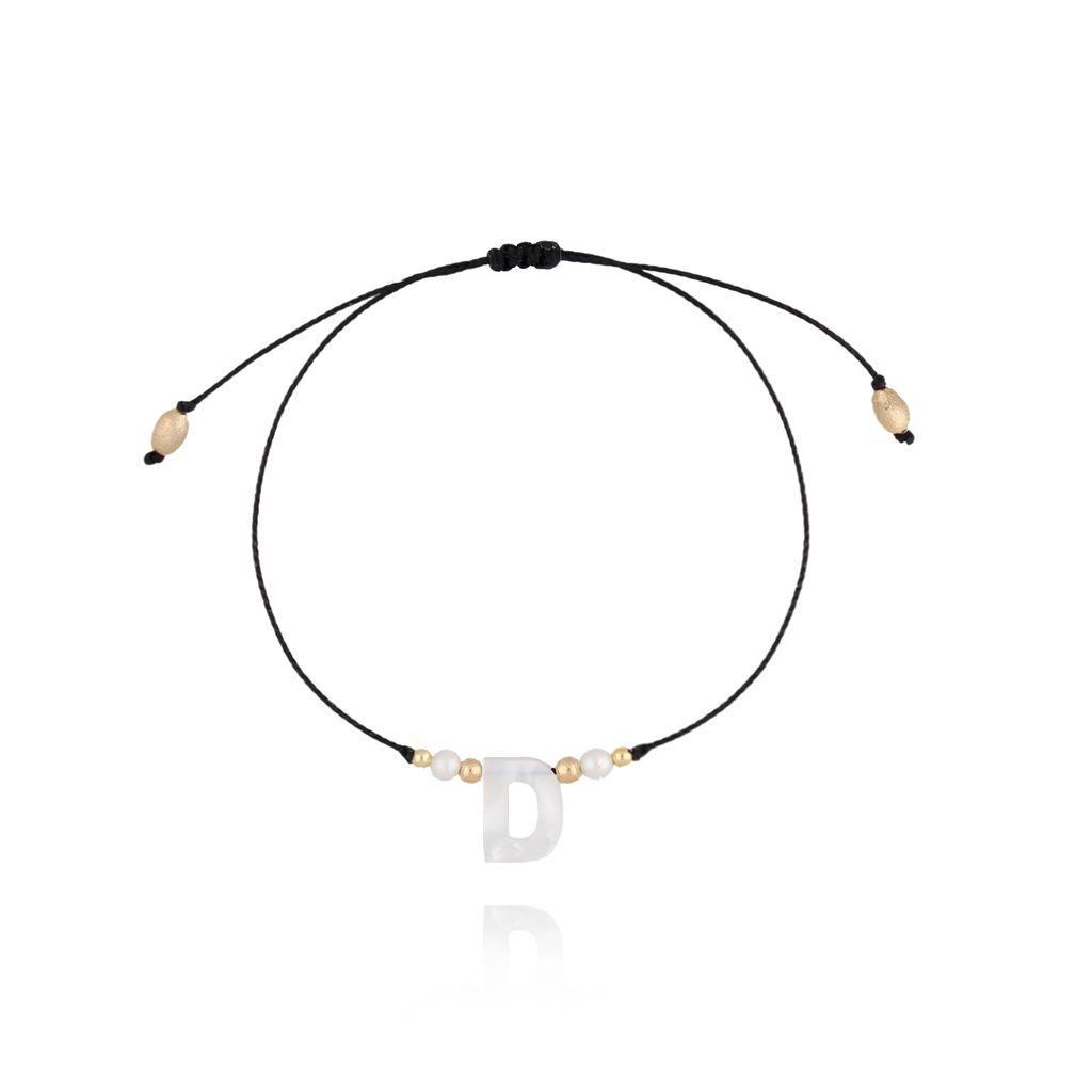 Bransoletka na sznurku z literką D BAT0026