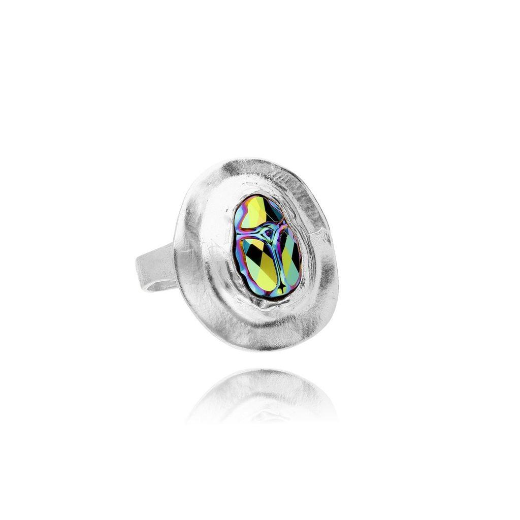 Pierścionek MOTYLE Nefertiti z kolorowymi kryształkami PMO0043