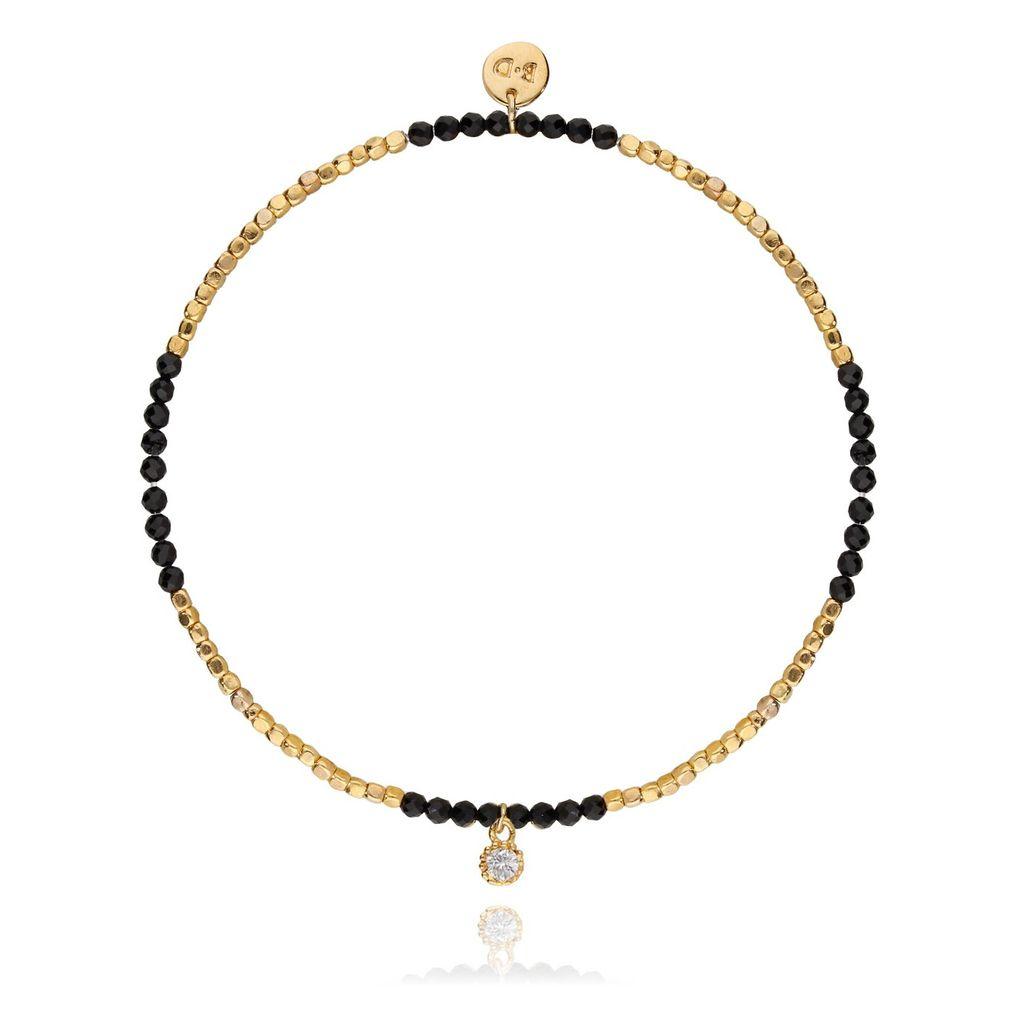 Bransoletka złota z czarnym onyksem BTW0131