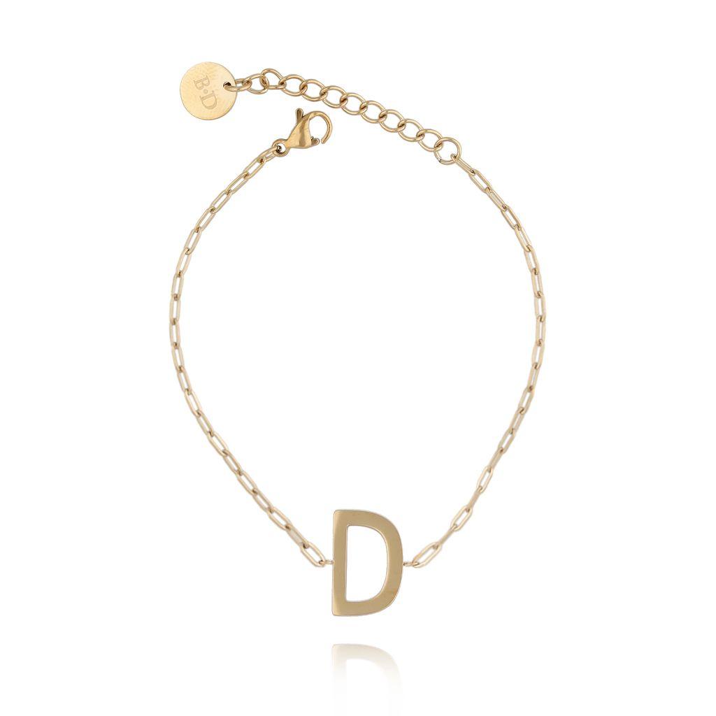 Bransoletka złota z literką D BAT0101