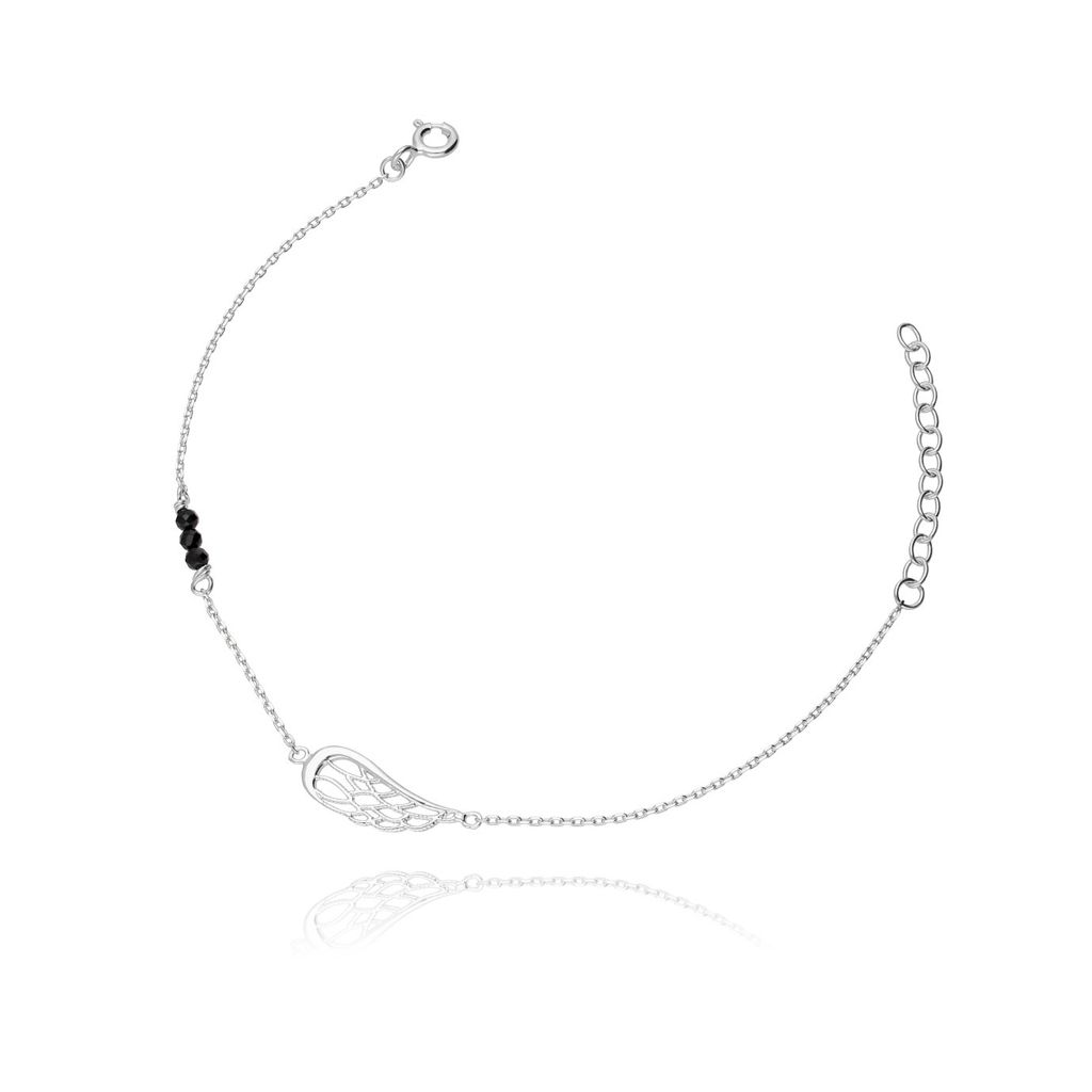 Bransoletka ze srebra kryształki skrzydełko BSE0005
