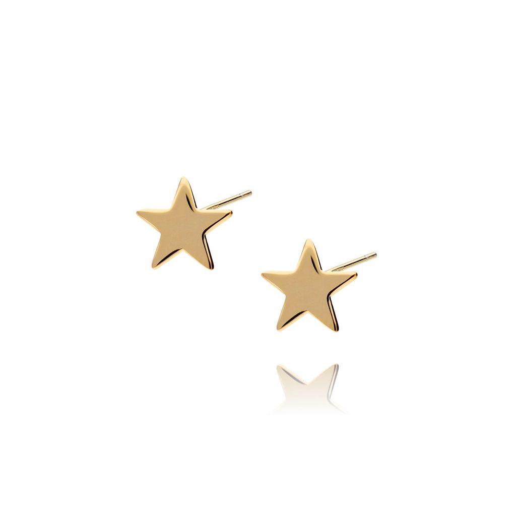 Kolczyki srebrne pozłacane gwiazdki KGM0003