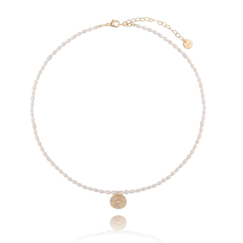 Naszyjnik z perłami i zawieszką NPA0060