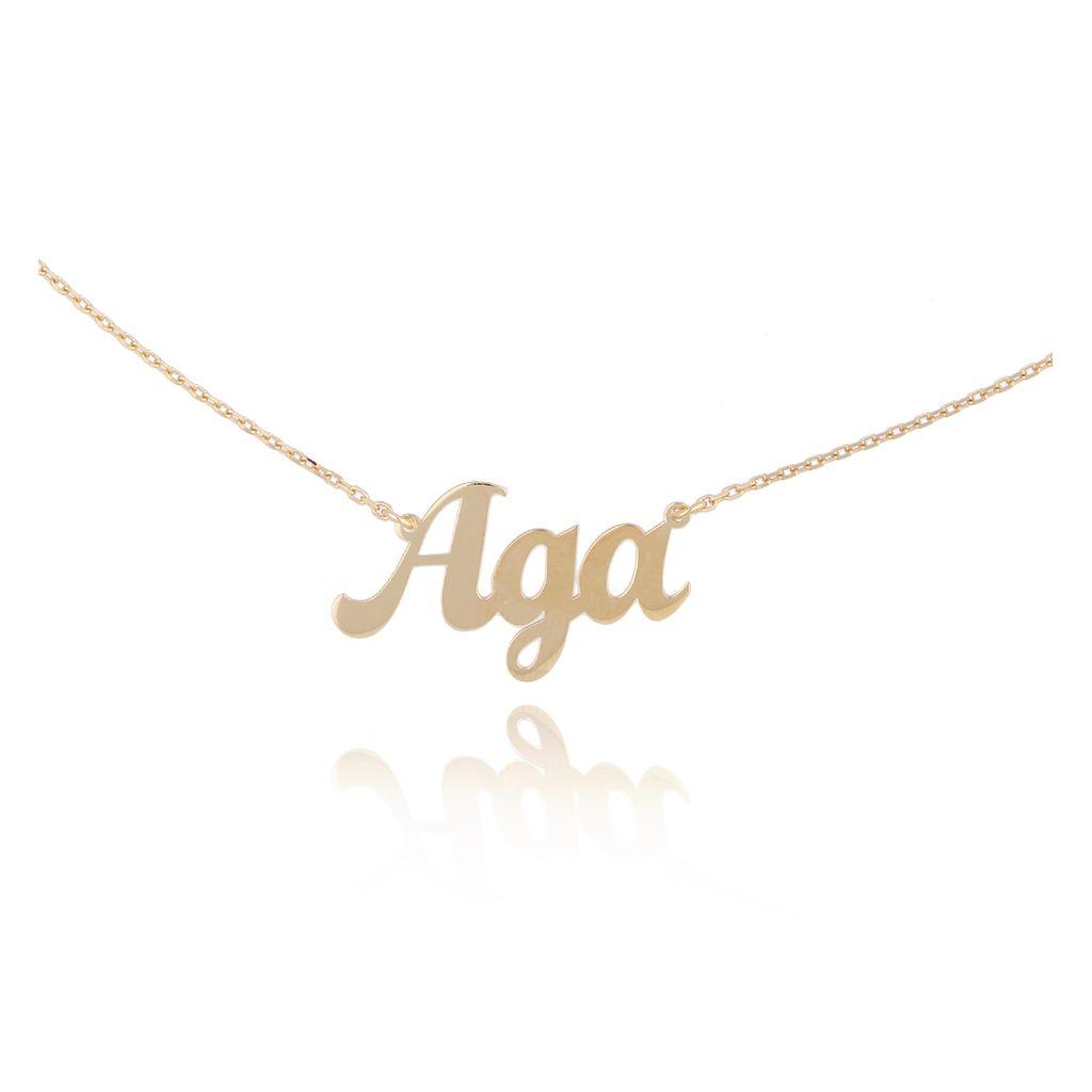 Naszyjnik pozłacany AGA NAT0216