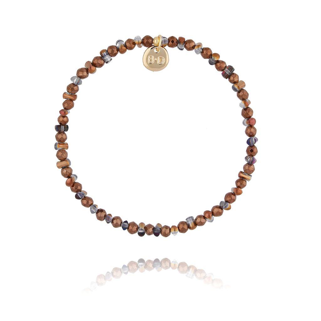 Bransoletka z brązowymi kryształkami BTW0280