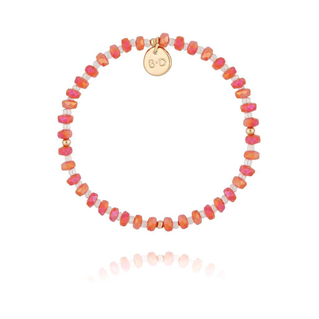 Bransoletka z pomarańczowych połyskujących kryształków BBL0194