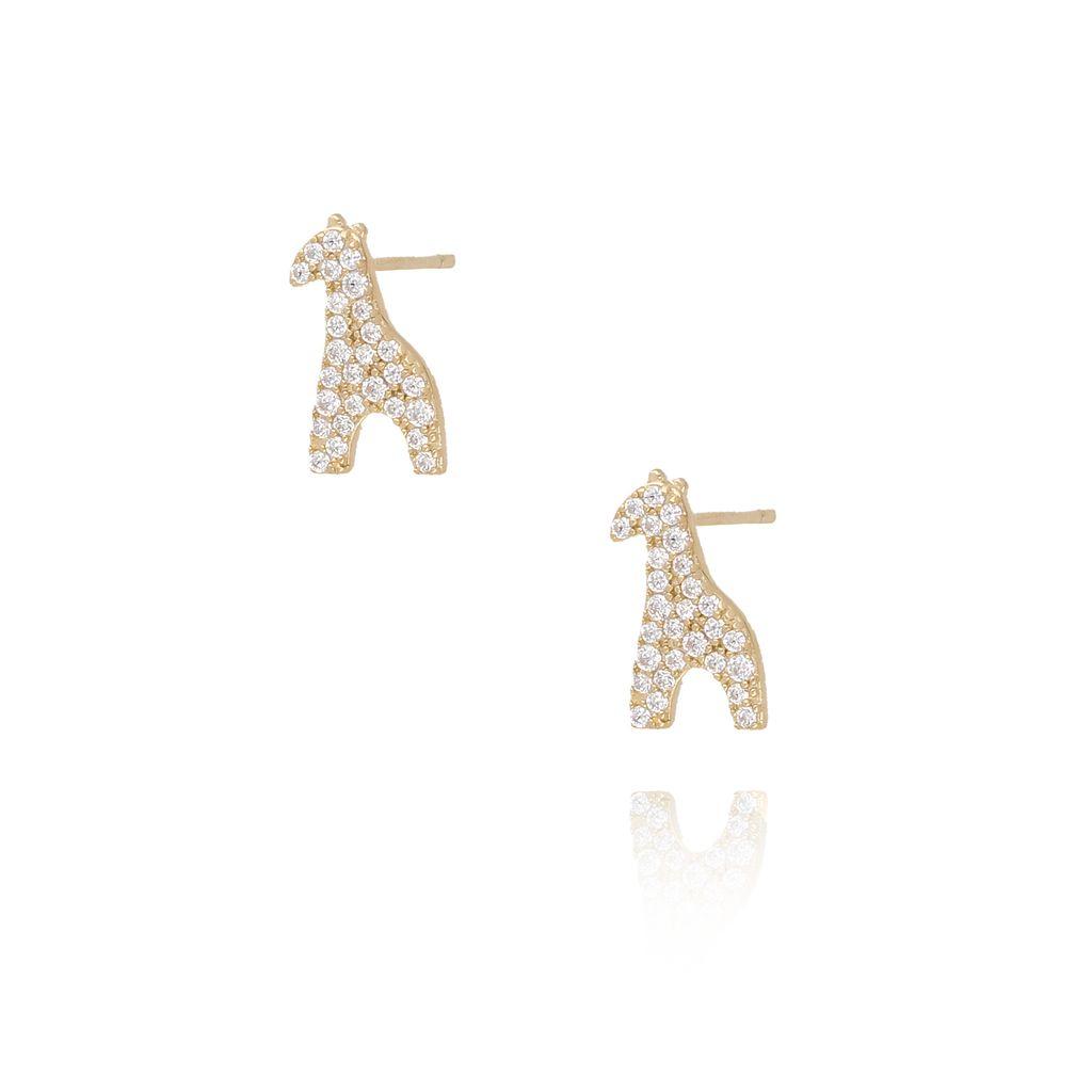 Kolczyki pozłacane żyrafy KGM0093