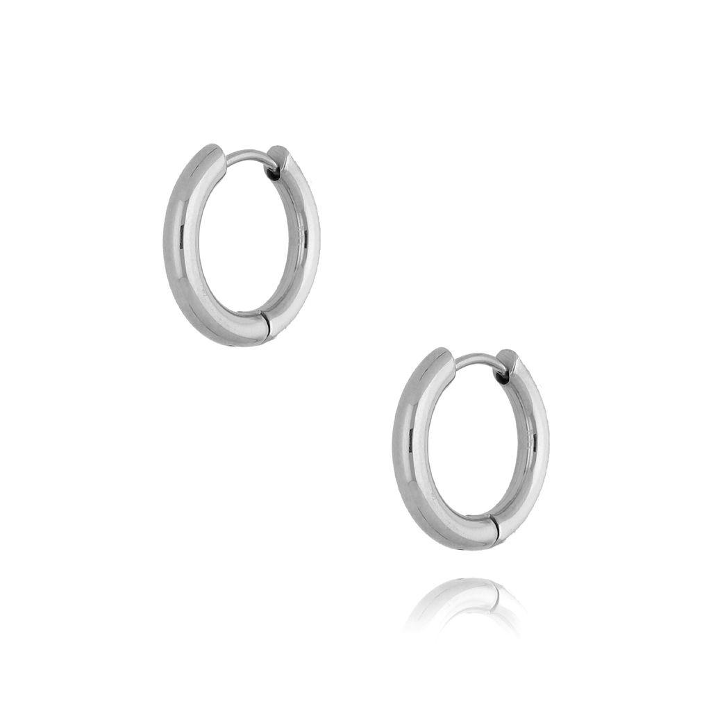 Kolczyki srebrne kółka średnie II KSA0138