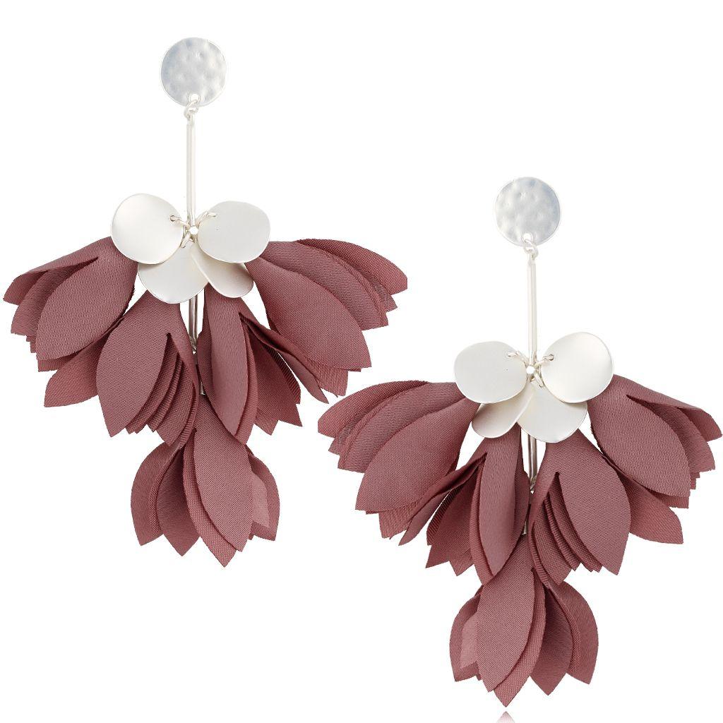 Kolczyki satynowe kwiaty malaga KBL0519