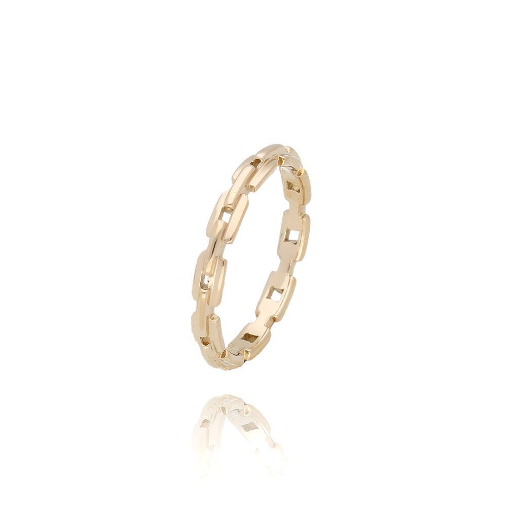 Pierścionek złoty ze stali szlachetnej PSA0017 Rozmiar 15