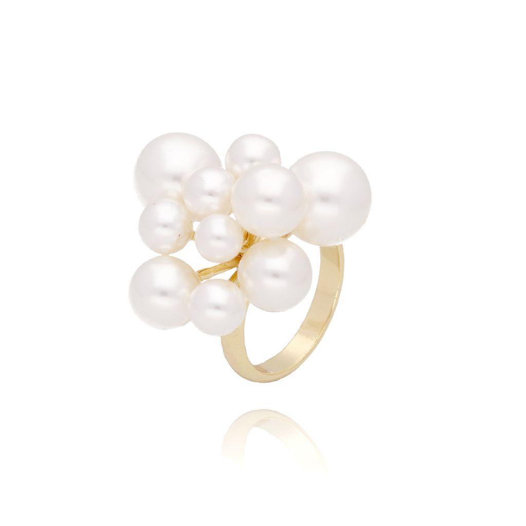 Pierścionek złoty z perłami PPE0024 rozmiar 13