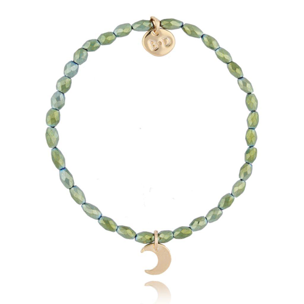 Bransoletka z zielonym hematytem BTW0156