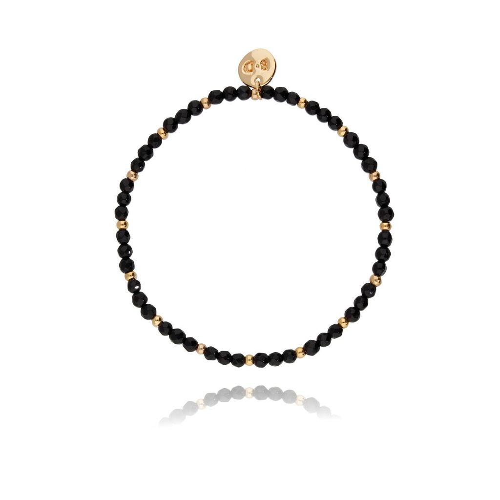 Bransoletka czarna z onyksem BTW0122