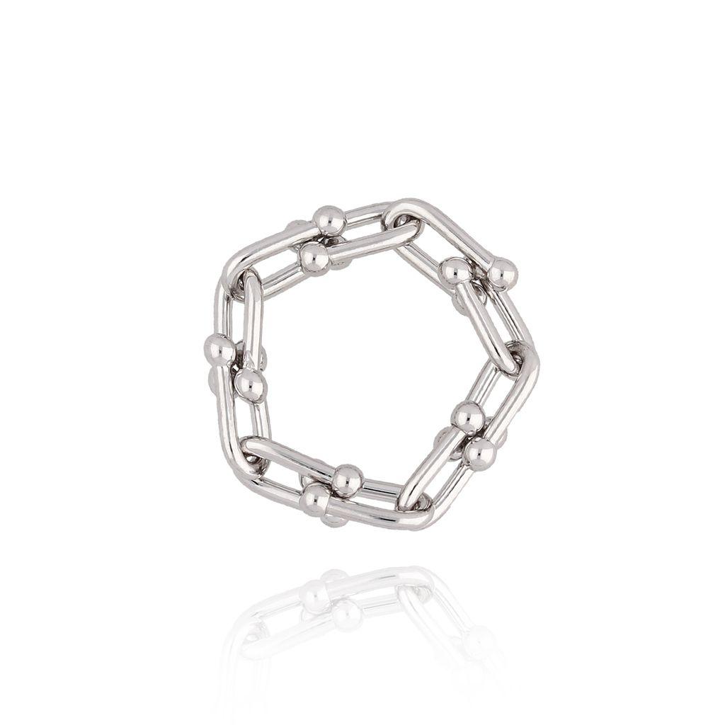Pierścionek srebrny z łańcuchem PRG0063 rozmiar 16