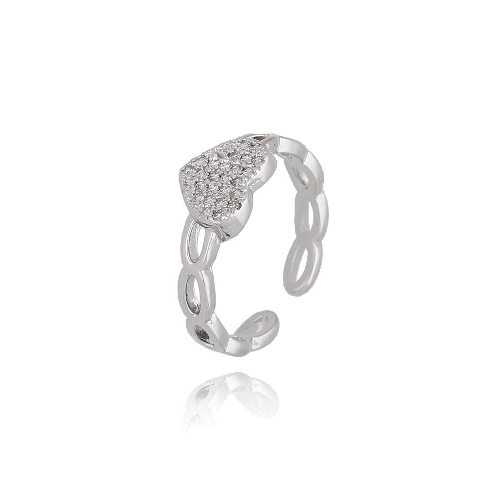 Pierścionek srebrny z serduszkiem PRG0151