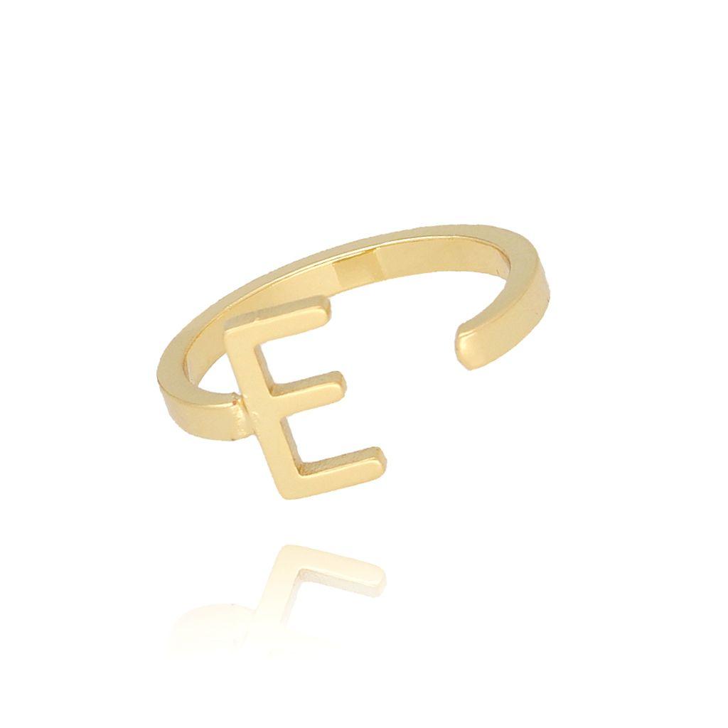 Pierścionek złoty literka E PAT0008