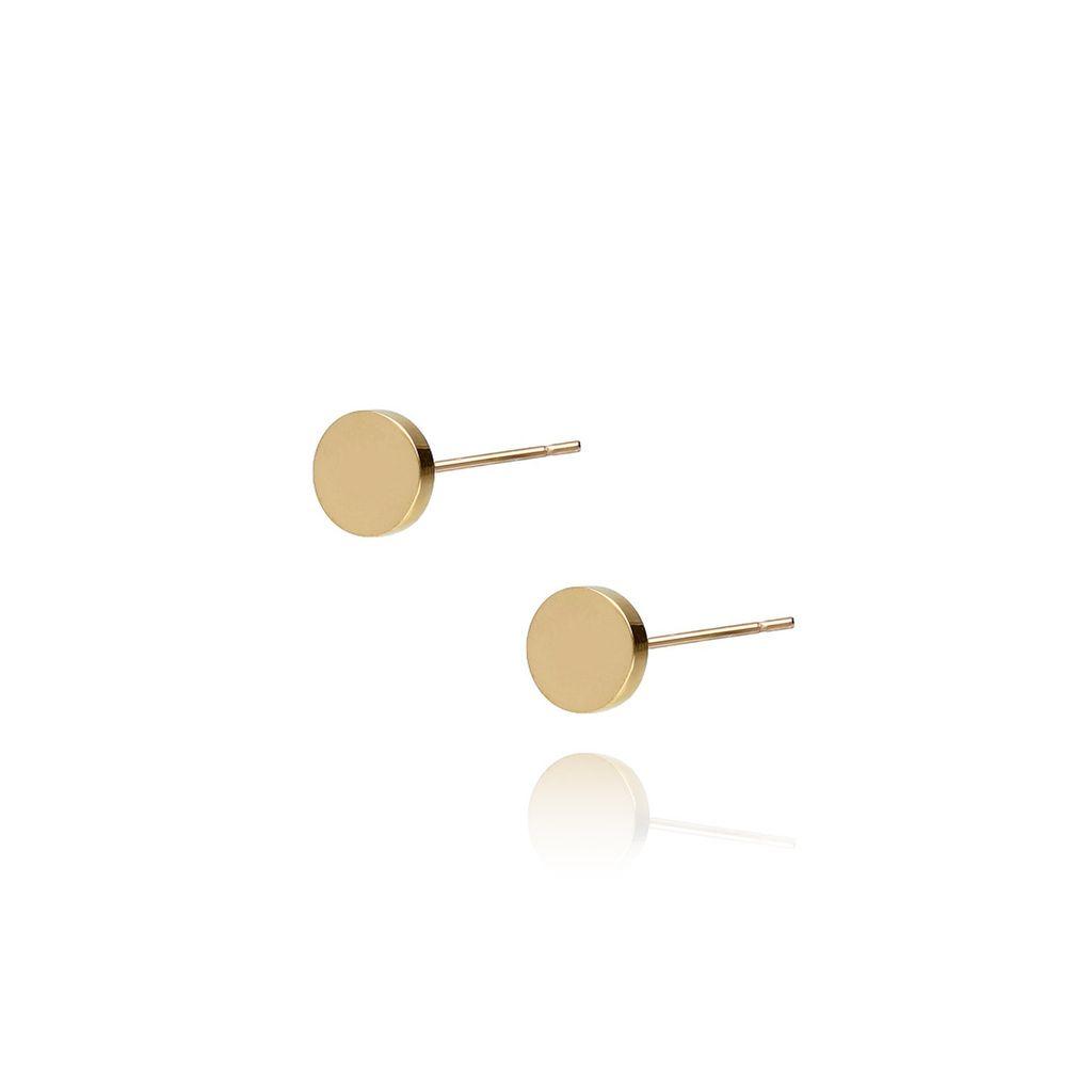 Kolczyki złote kółka ze stali szlachetnej KSA0024