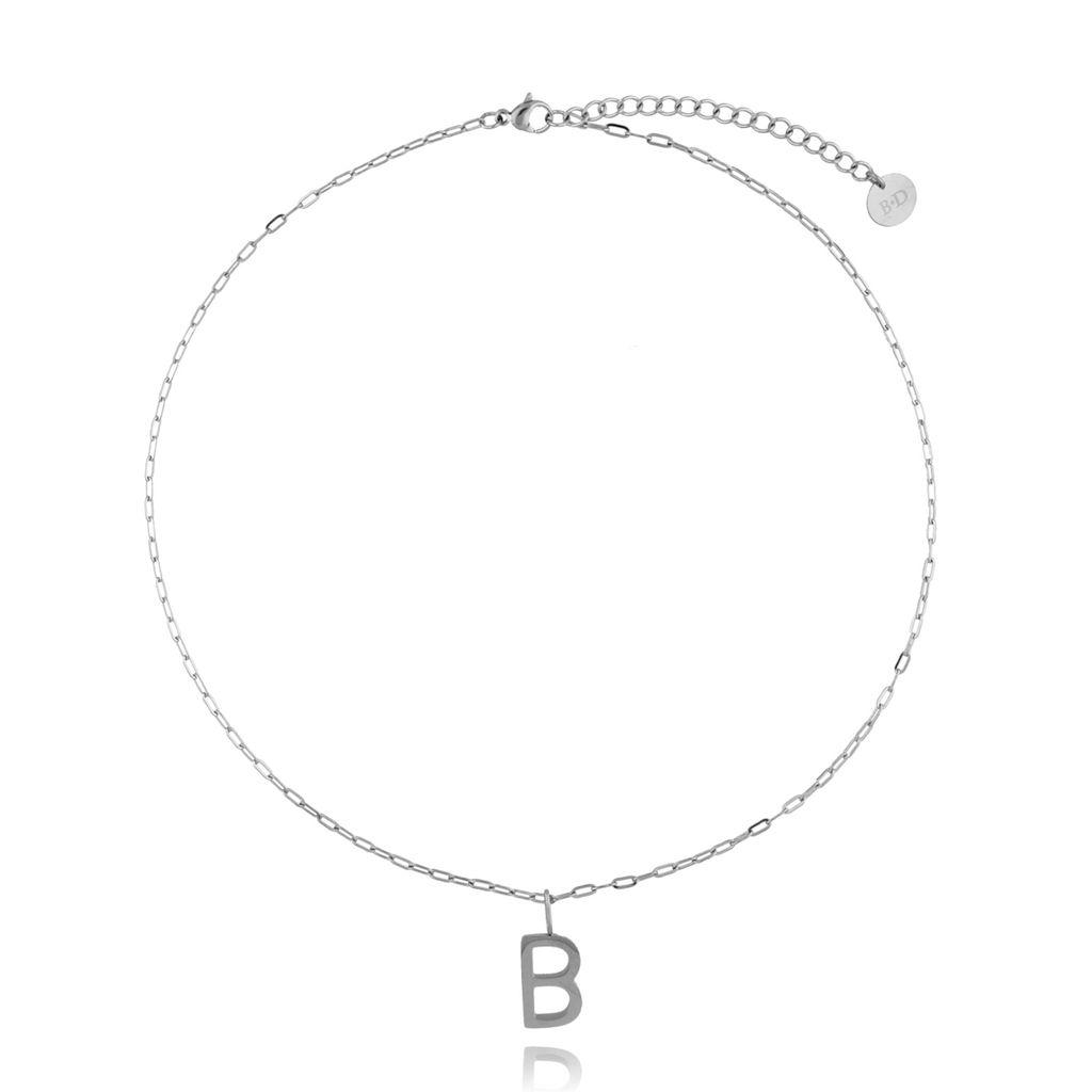 Naszyjnik srebrny z literką B NAT0195