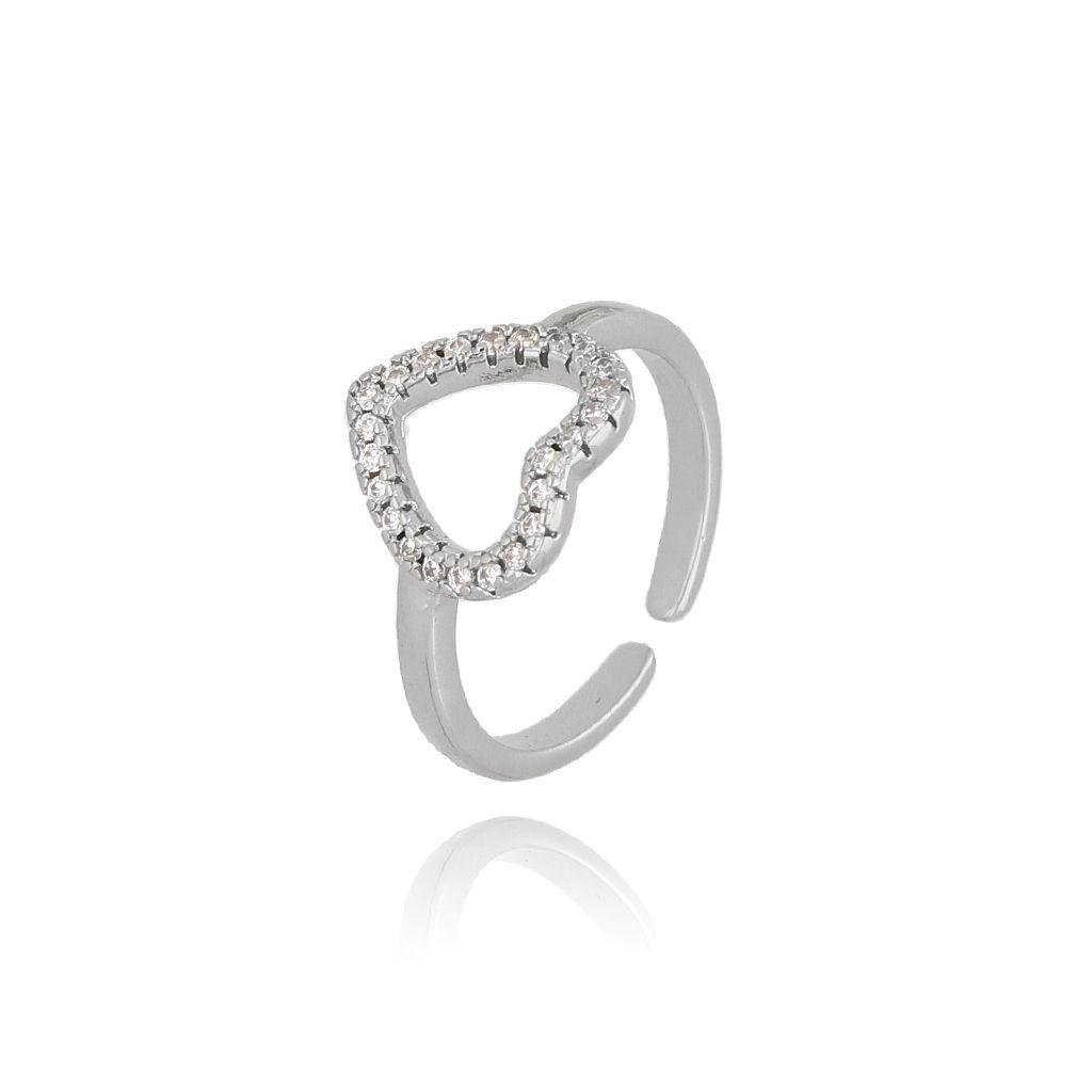 Pierścionek srebrny z serduszkiem PRG0160