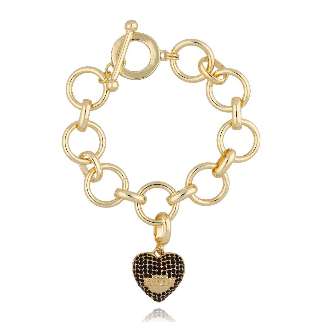Bransoletka złota z sercem BRG0171