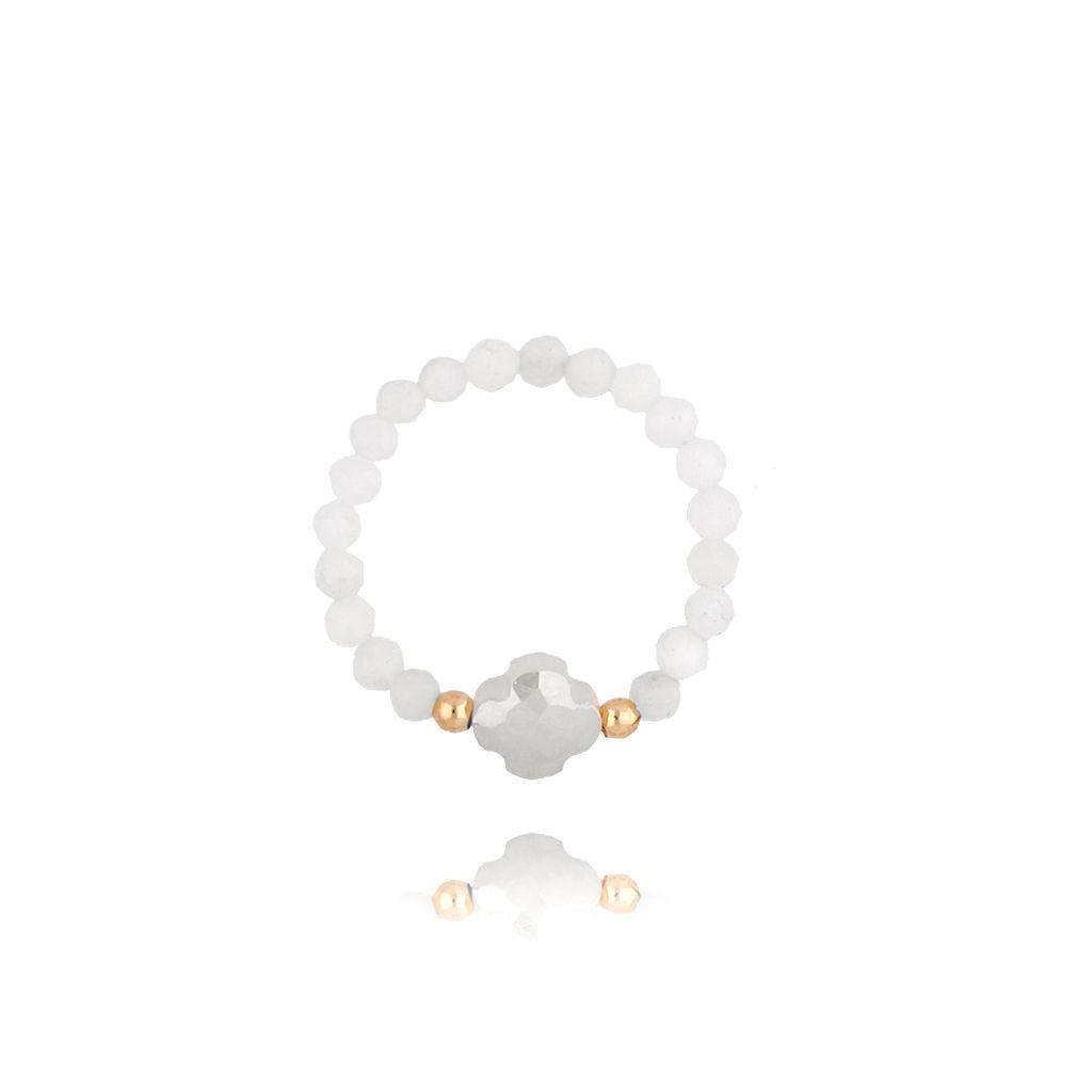 Pierścionek elastyczny z kryształkami PTW0076