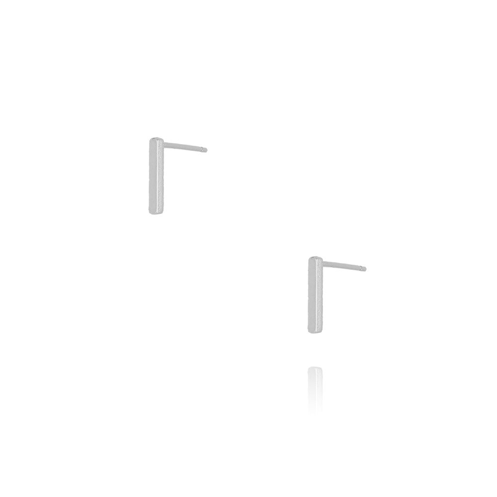 Kolczyki wkrętki z literką I srebrne KAT0010