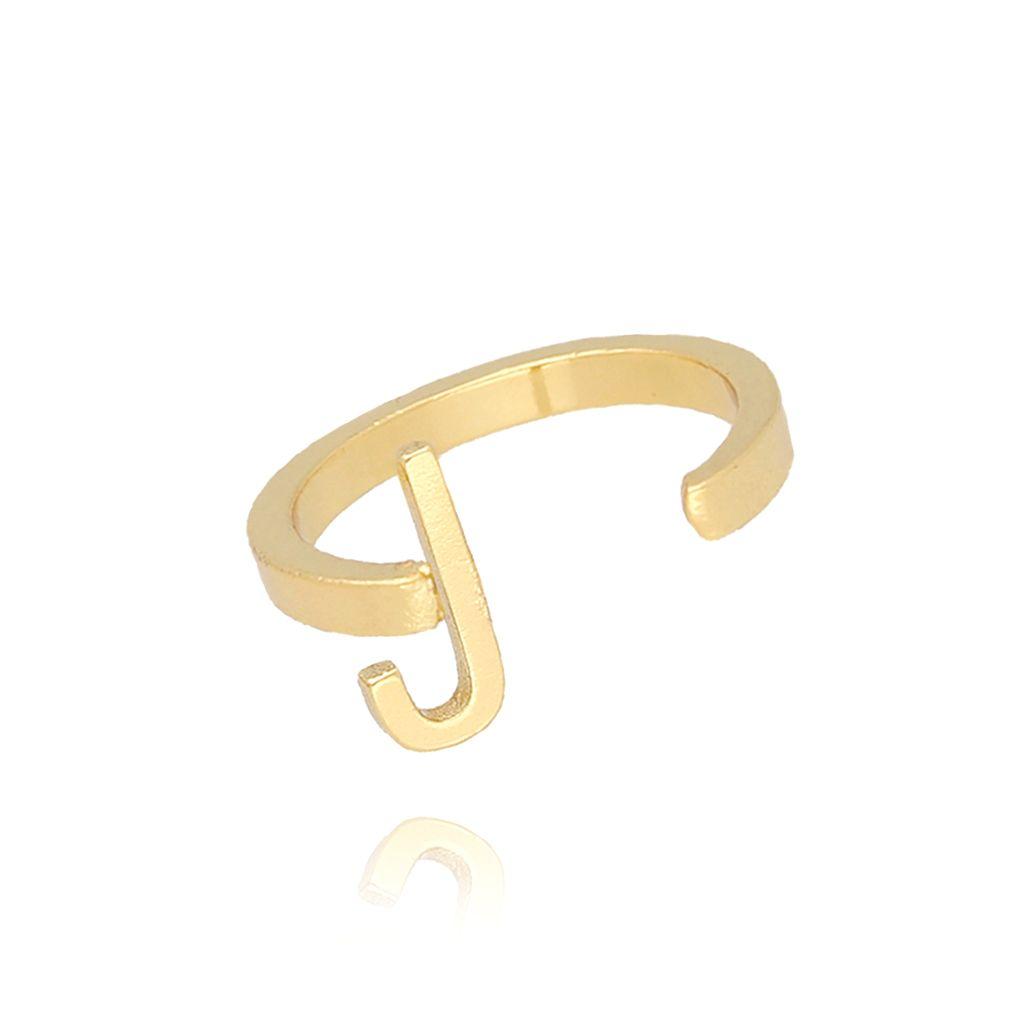Pierścionek złoty literka J PAT0014