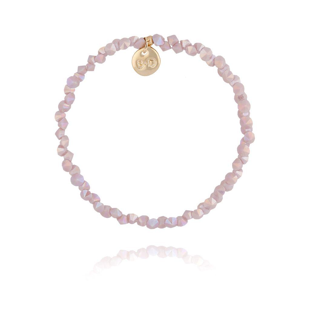 Bransoletka z jasno fioletowymi kryształkami BTW0232