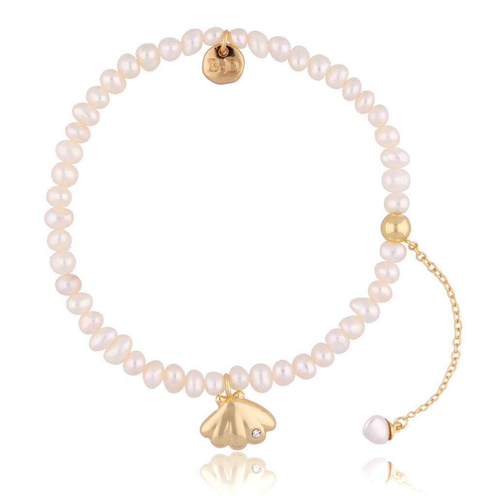Bransoletka  perłowa z muszlą BLB0015