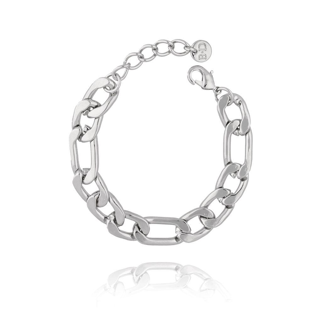 Bransoletka srebrny łańcuch gruby BRG0126