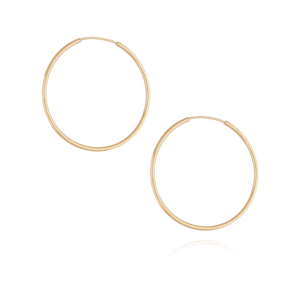 Kolczyki srebrne koła pozłacane KSE0059 3,2cm