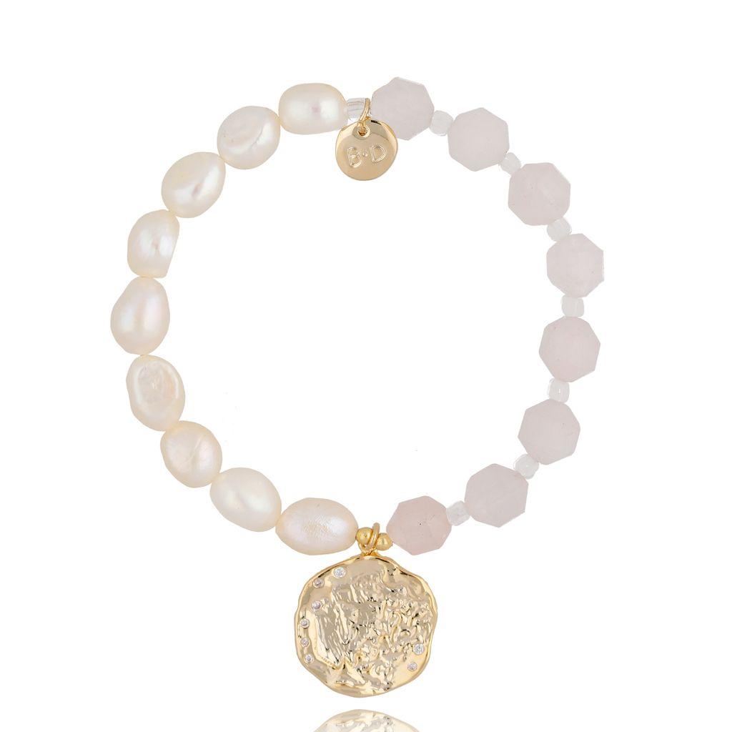 Bransoletka z perłami i kamieniami naturalnymi BPA0029