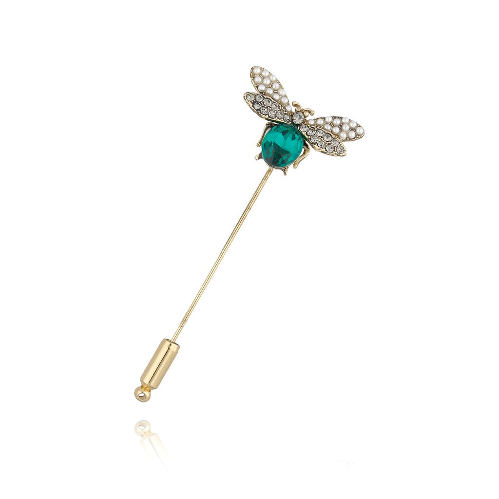 Broszka szpilka zielony owad BRMI0112