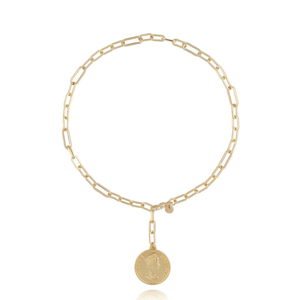 Naszyjnik złoty z monetą NRG0286