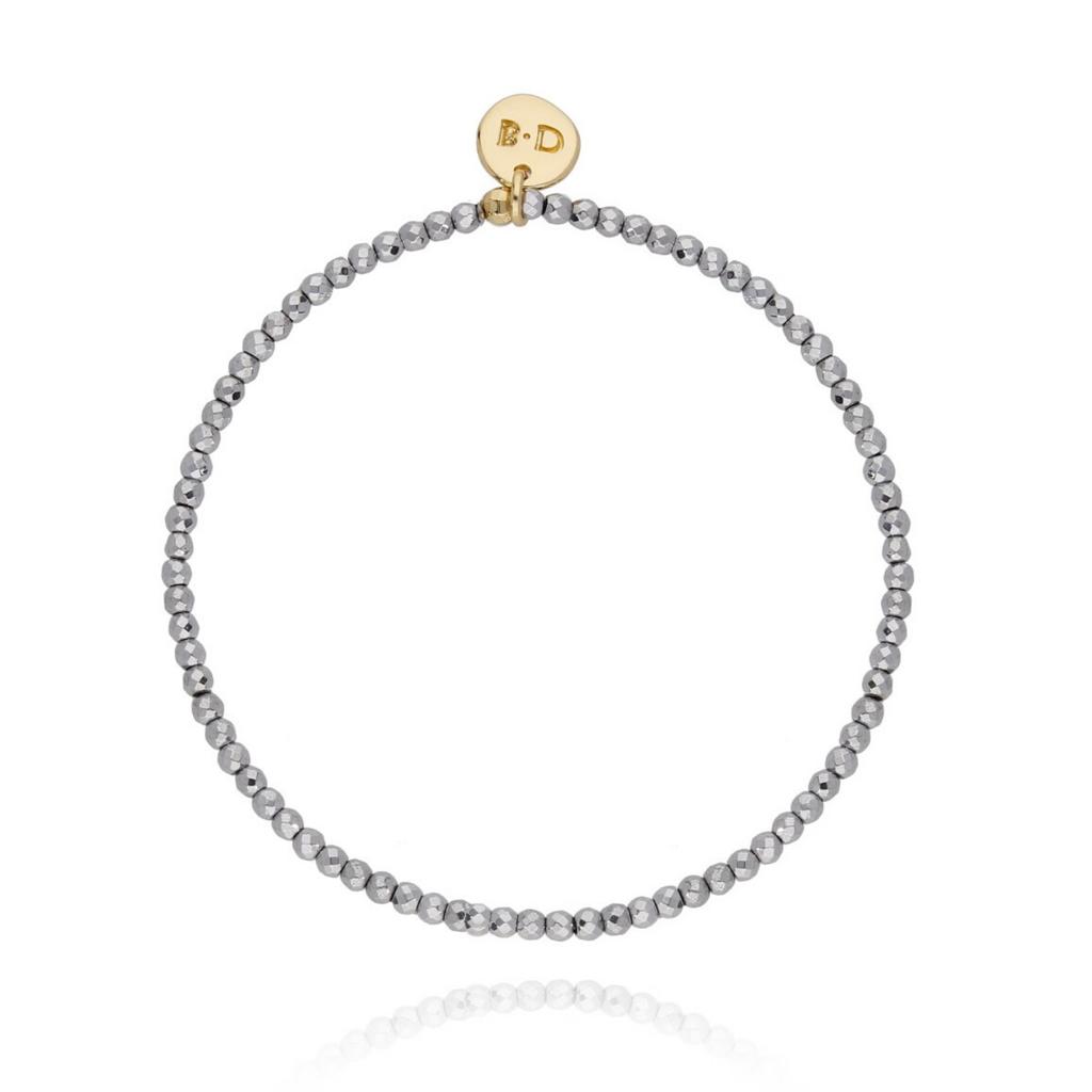Bransoletka z hematytów srebrna BTW0135