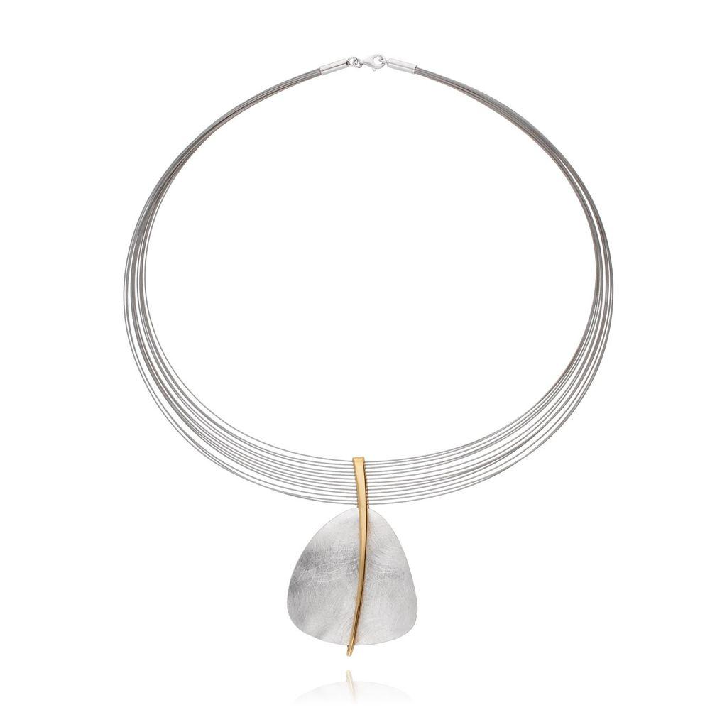 Naszyjnik srebrny szczotkowany NLE0020