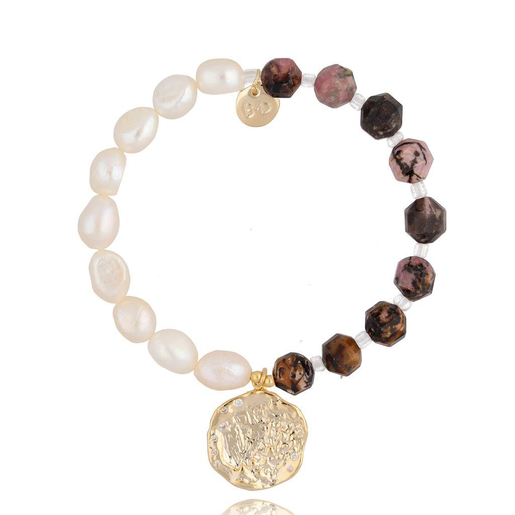 Bransoletka z perłami i kamieniami naturalnymi BPA0034