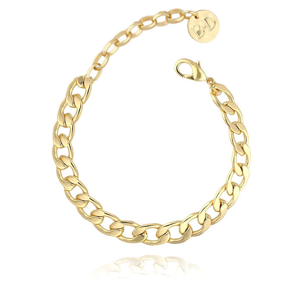 Bransoletka na kostkę  złoty łańcuch  BNRG0001